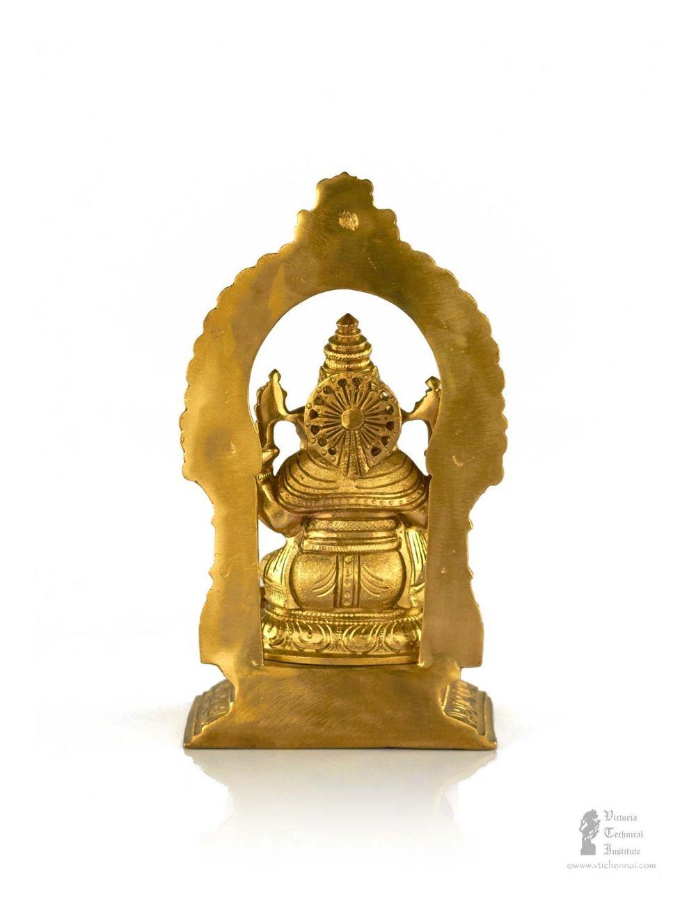 20 Cm Indian Hindu God Ganesh Brass Statue Vti Chennai